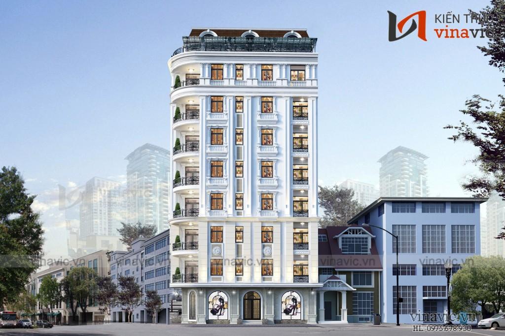 Thiết kế khách sạn hiện đại tiêu chuẩn 3 sao KSVP1901