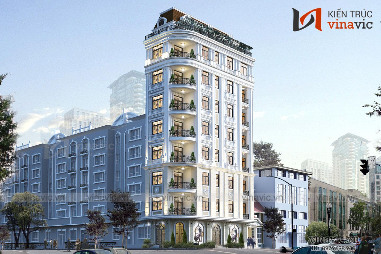 Thiết kế khách sạn hiện đại tiêu chuẩn 3 sao KSVP19