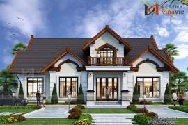 Mẫu thiết kế biệt thự 1 tầng cho khách hàng Việt kiều Mỹ