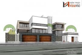 Mẫu thiết kế biệt thự hiện đại theo phong cách Singpore ở Quảng Bình BT1836