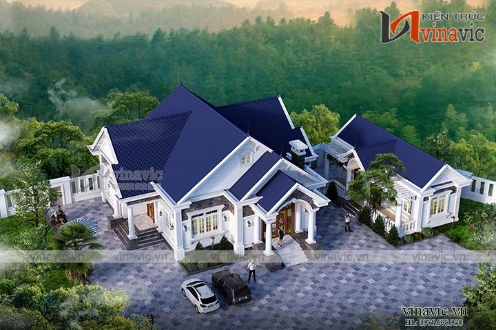 Nhà vườn 1 tầng 4 phòng ngủ 240m2 chi phí đầu tư khoảng 1.5 tỷ BT1904