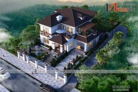 Nhà vuông 300m2 3 phòng ngủ 2 tầng mặt tiền 15m ở Sơn La BT1901