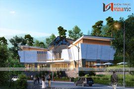Góc nhìn nghiêng của mẫu nhà đa năng khu du lịch sunny resort KSVP19