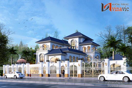 Mẫu Villa 3 tầng mang phong cách Tân Cổ Điển BT1907 đầy sang trọng