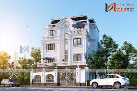 Mẫu nhà biệt thự 4 tầng đẹp phong cách tân cổ điển