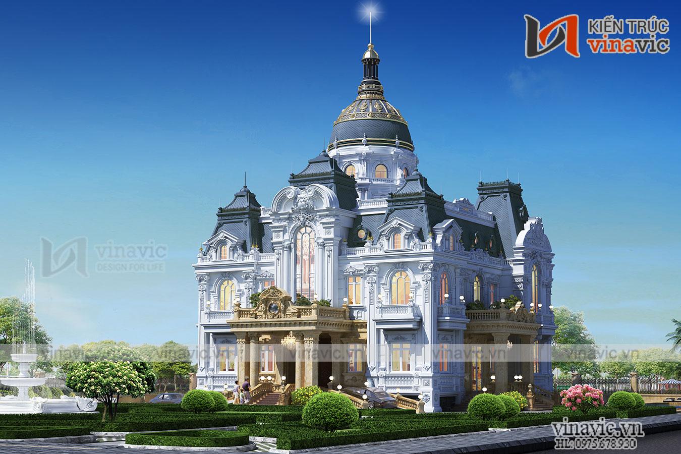 Lâu đài cung điện cổ điển xa hoa lộng lẫy đẳng cấp doanh nhân LDDT1903