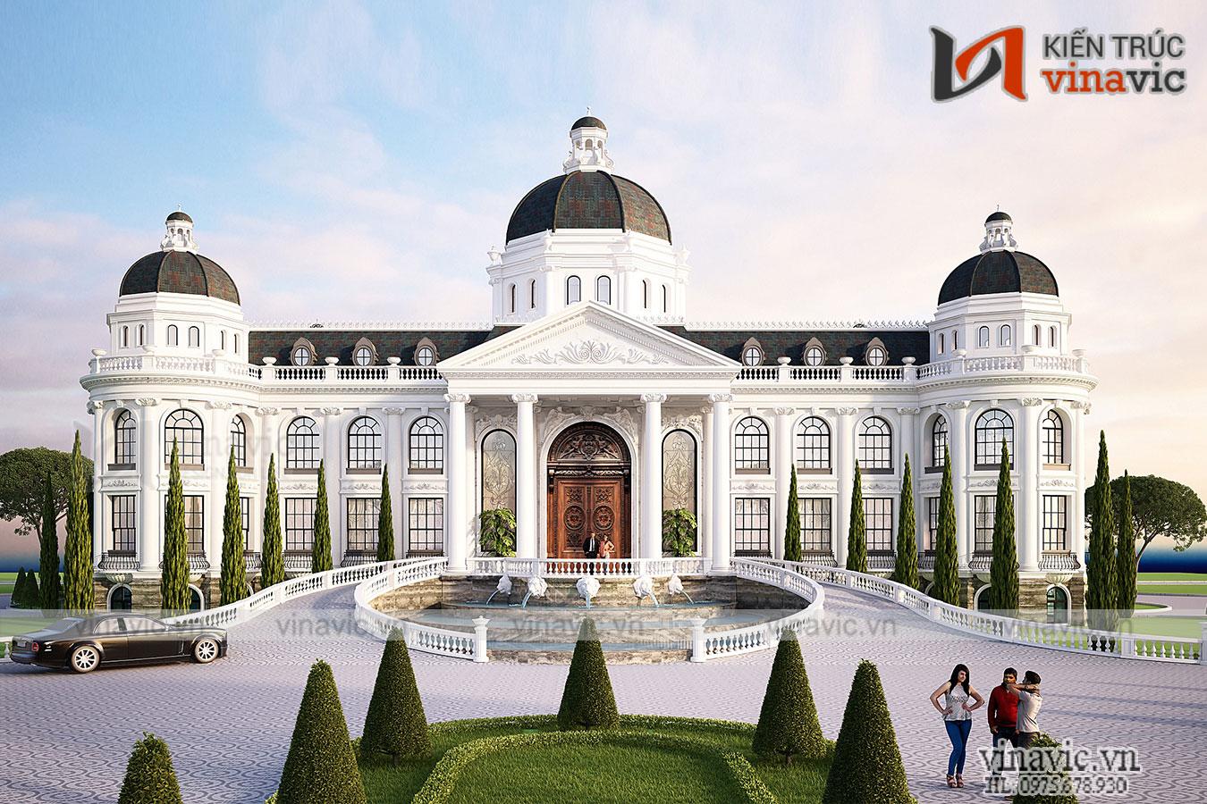 Thiết kế dinh thự tân cổ điển dành cho người đẳng cấp LDDT1905