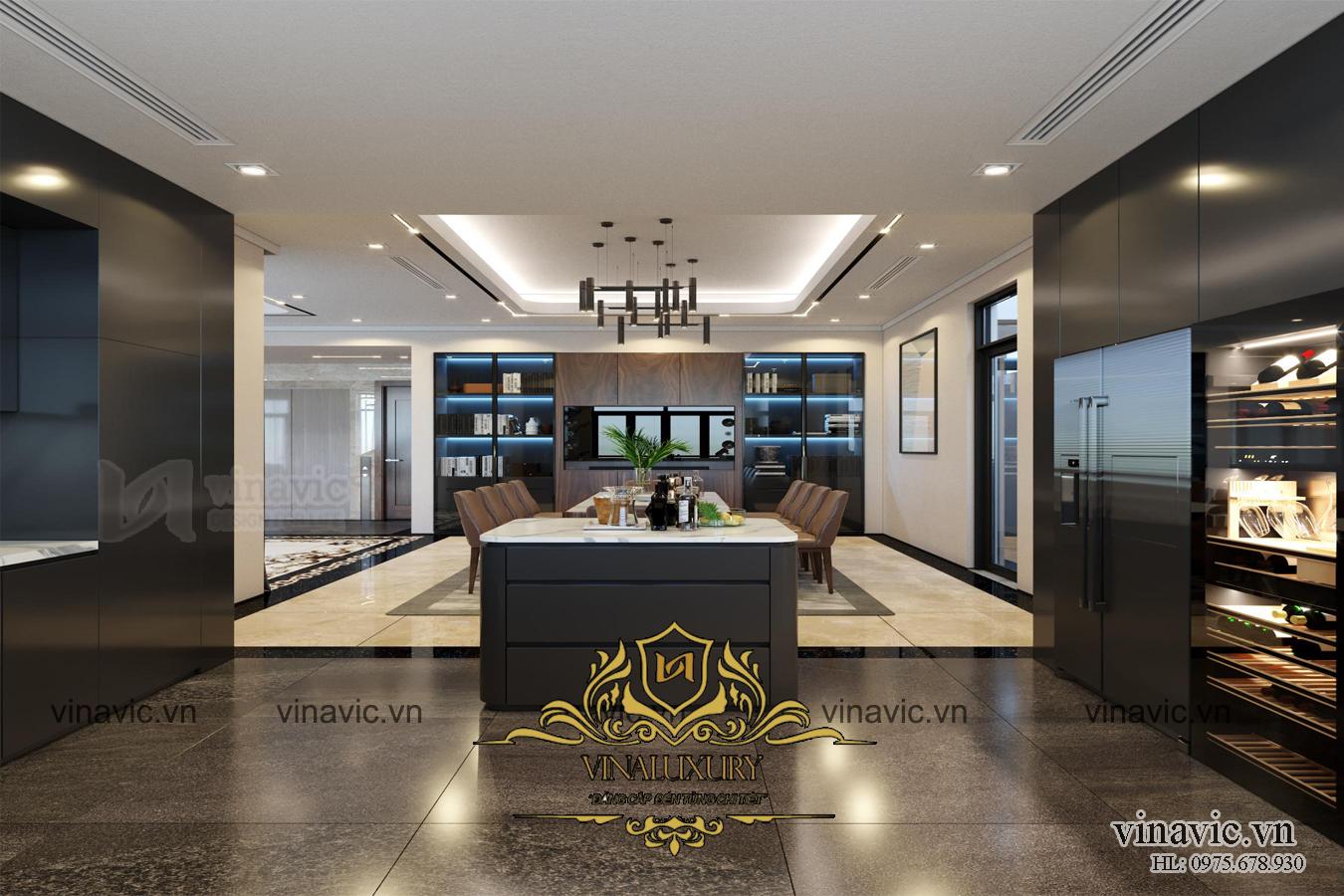 Thiết kế nội thất biệt thự phong cách hiện đại sang trọng ở Hạ Long NT2011