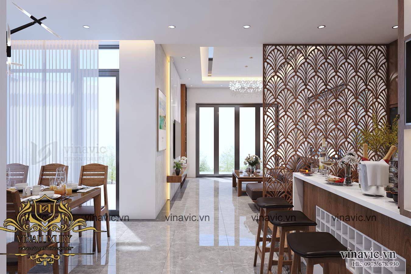 Thiết kế nội thất đẹp phong cách hiện đại sang trọng ở Nghệ An NT2010