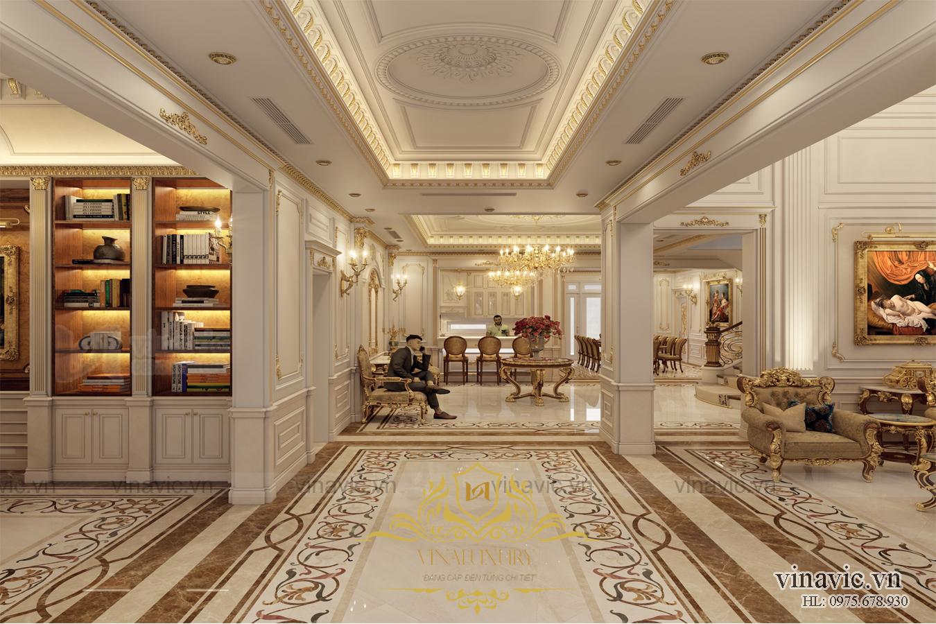 Thiết kế nội thất dinh thự siêu sang trọng cho dinh thự NT2006