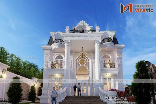 Dinh thự 3 tầng phong cách tân cổ điển ở Hà Nam LDDT2005