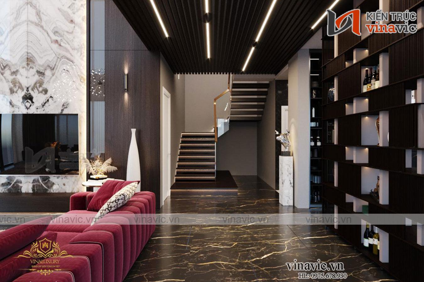 Thiết kế Villa 3 tầng hiện đại ở Chương Mỹ – Hà Nội BT2016