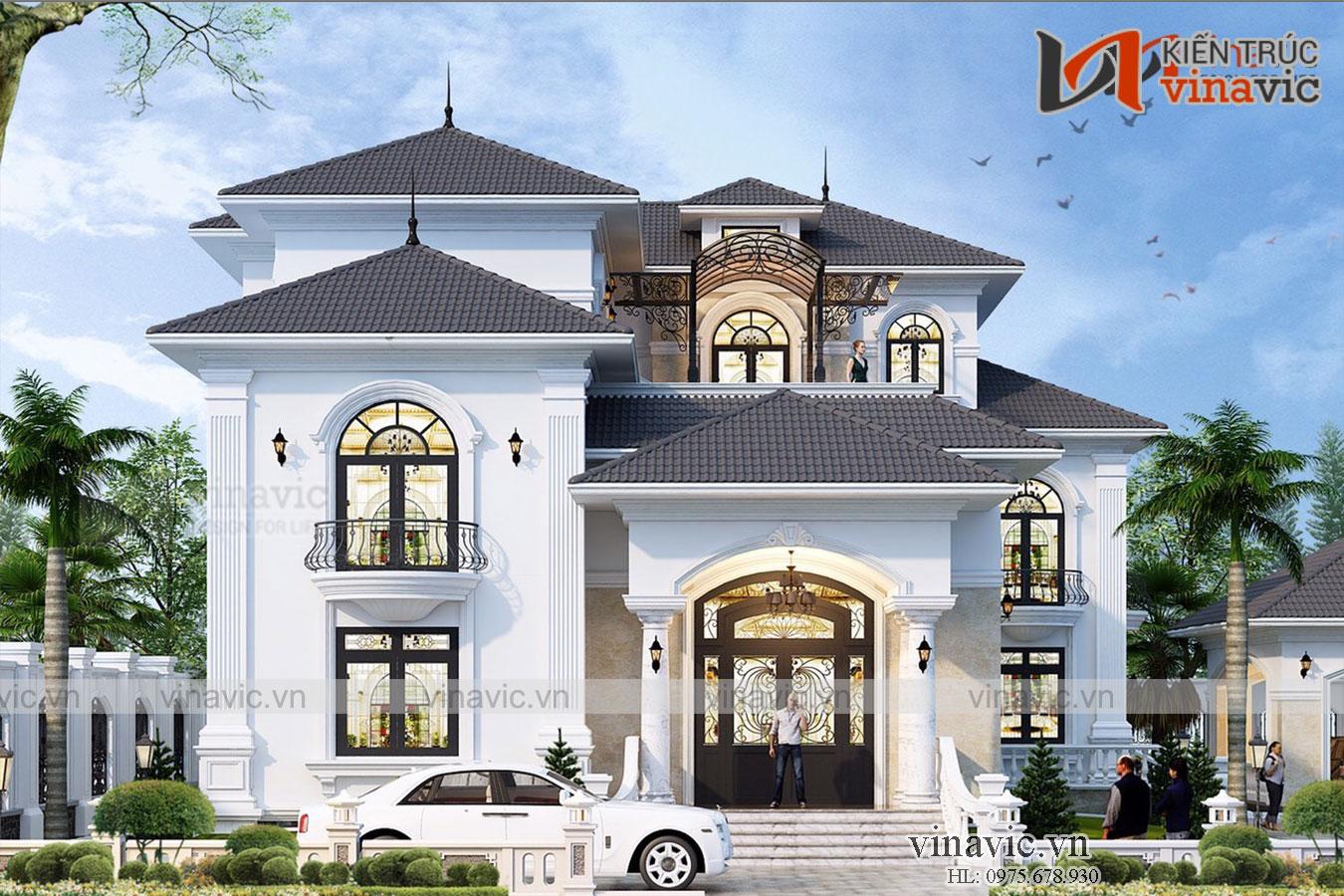 Mẫu nhà đẹp 2 tầng hiện đại sang trọng và đẳng cấp ở Bình Dương BT2016